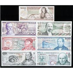 Banco De Mexico (7) Note Lot - Collectible.