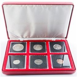 RCM 1973 Proof Coin Set, Quads and Case