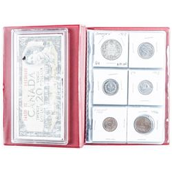 Collector Coin Book with 20.00 Bank of Canada  Note.
