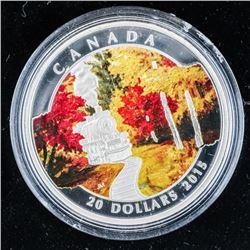 RCM 2015 'Autumn Express' .999 Fine Silver  $20.00 Coin