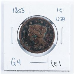 1853 USA One Cent