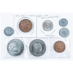 Grouping (8) Coins - UK, GB, Etc.