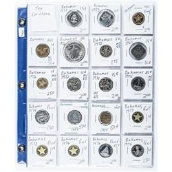 Group of (19) BAHAMAS Coins Includes Silver