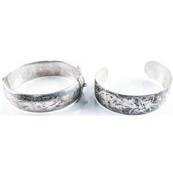Estate Lot (2) Sterling Silver Bangles