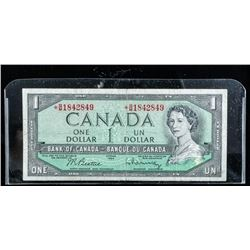 Bank of Canada 1954 1.00 *Replacement (BM)  B/R