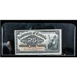 Dominion of Canada 1900 25 Cents -  Shinplaster 'Courtney'