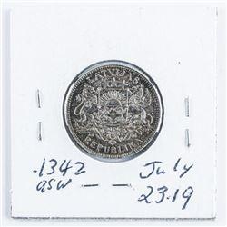 Latvia 1924 1 Lats MS60 .1342 Silver