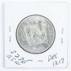 Czech 1932 10 Koran Silver Coin MS63. .2236  ASW