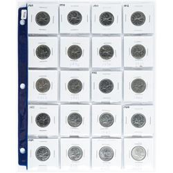 Group of (20) Canada 25 Cent 1969-1993 era