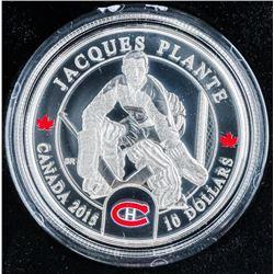 Jacques Plante .999 Fine Silver $10.00 Coin