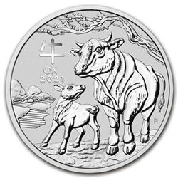 Australia Mint Year of the Ox .9999 Fine  Silver 50c Fractional Round - Collector  Bullion.