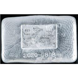 Collector Bullion Hand Poured 10oz .999 Fine  Silver Dated with 'Serial Number' (SERIAL  WILL VARY)