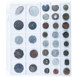 Group of (34) World Tokens