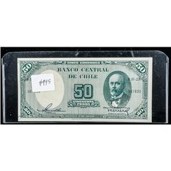 Bank of Chile - GEM UNC 1960