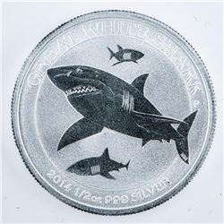 Great White Shark .9999 50 Cent Coin