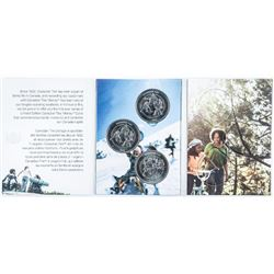 Canadian Tire Folio with (4) Vintage 2010  Coins