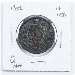 1852 USA 1 Cent