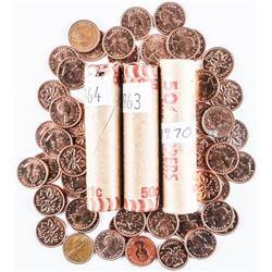 Lot (4) CANADA 1 Cents Rolls: 1961, 1963,  1964, 1970