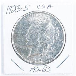 1923(S) USA Peace Dollar MS63
