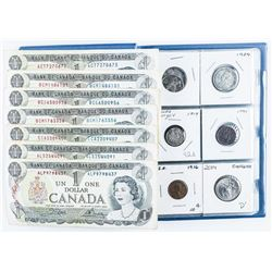 Coin Stock Book (12 Coins) with Bank of  Canada Notes