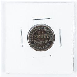 Civil War Store Card Token, 'Benjamin and  Herrick' Fruit Albany NY Fuld 10a-6a (VF)