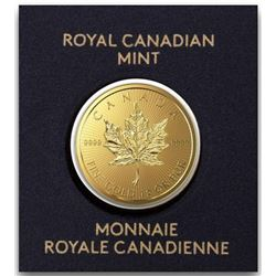 Royal Canadian Mint .9999 Fine Gold 50c Round  Maple - Scarce, Very Collectible.