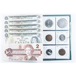 Stock Coin Book 12 Coins Includes Silver,  Plus Notes