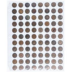 Group of (88) British Farthing Coins