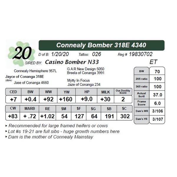 Connealy Bomber 318E 4340