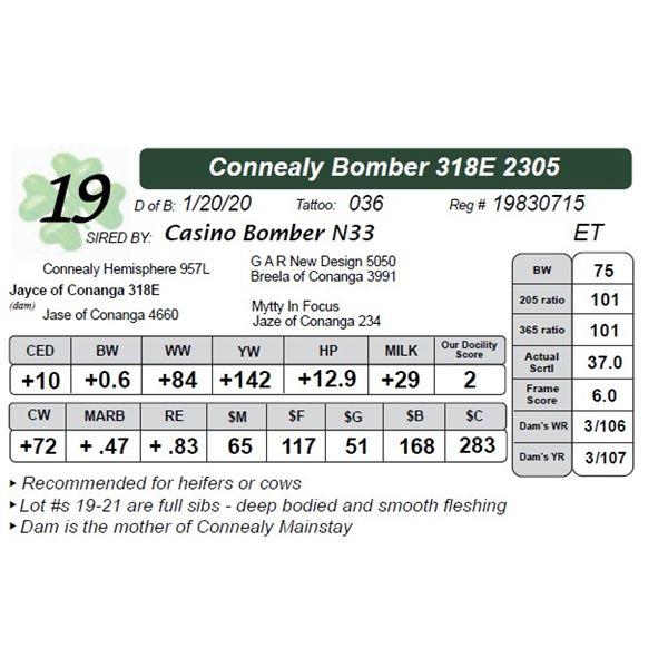 Connealy Bomber 318E 2305
