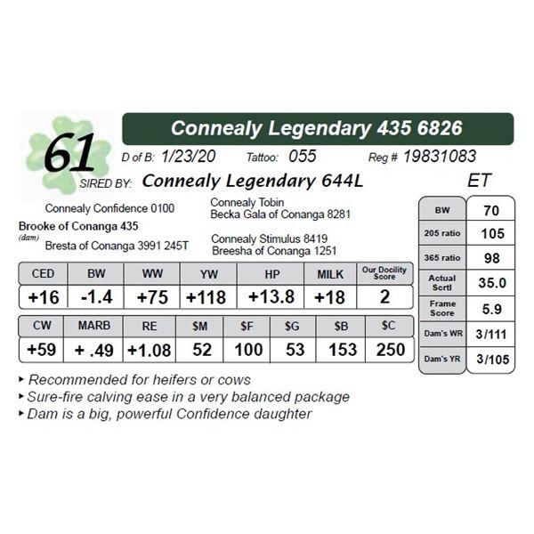 Connealy Legendary 435 6826