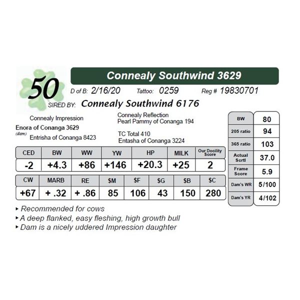 Connealy Southwind 3629