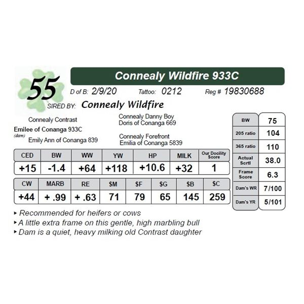 Connealy Wildfire 933C