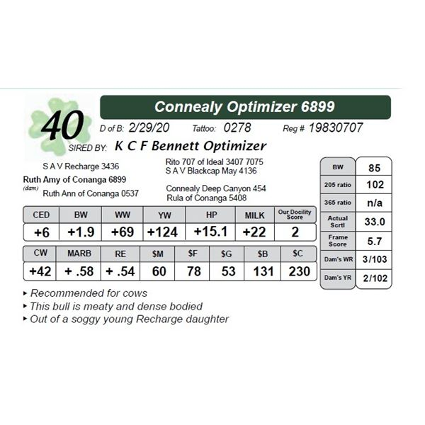 Connealy Optimizer 6899