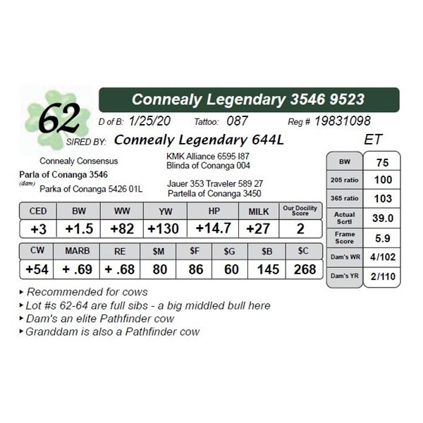 Connealy Legendary 3546 9523
