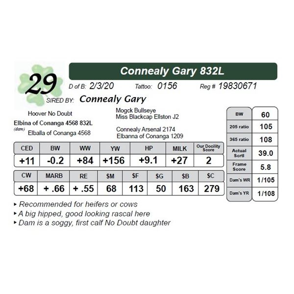 Connealy Gary 832L