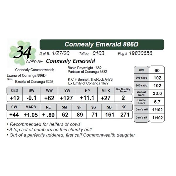 Connealy Emerald 886D