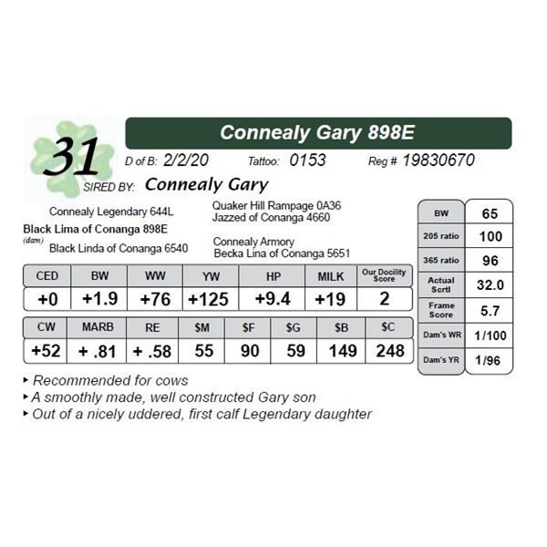 Connealy Gary 898E