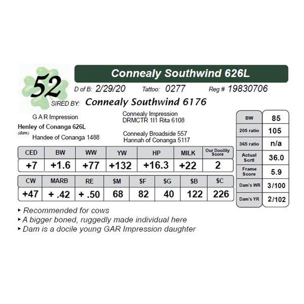 Connealy Southwind 626L