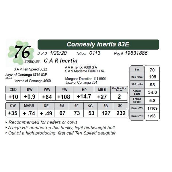Connealy Inertia 83E