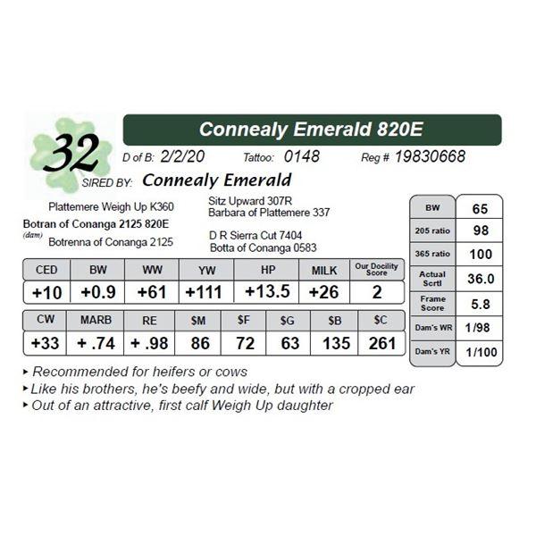 Connealy Emerald 820E