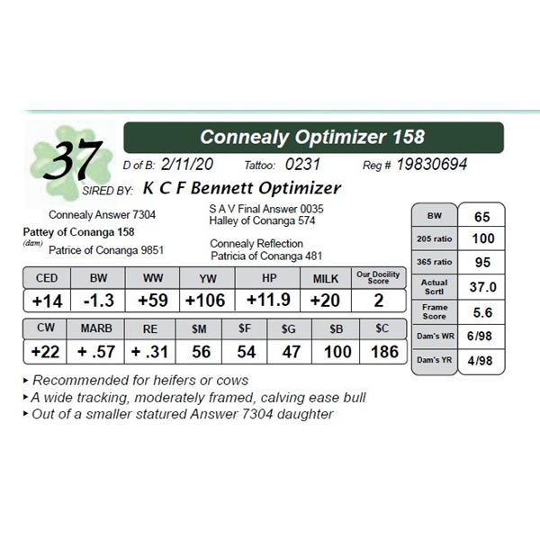 Connealy Optimizer 158