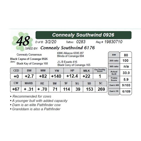 Connealy Southwind 0926