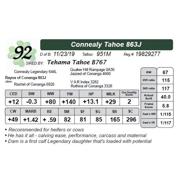 Connealy Tahoe 863J