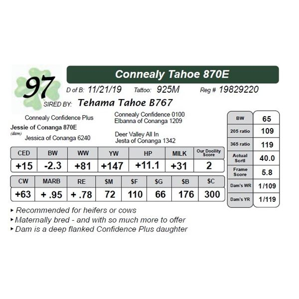 Connealy Tahoe 870E