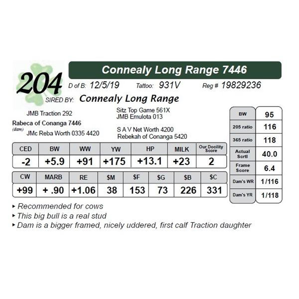 Connealy Long Range 7446