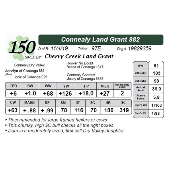 Connealy Land Grant 882