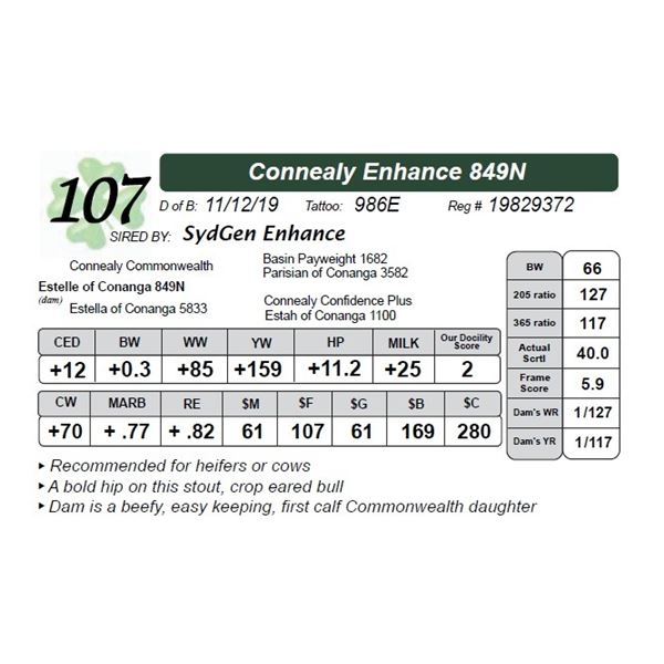 Connealy Enhance 849N