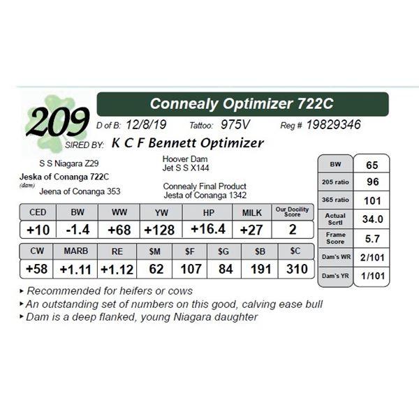 Connealy Optimizer 722C