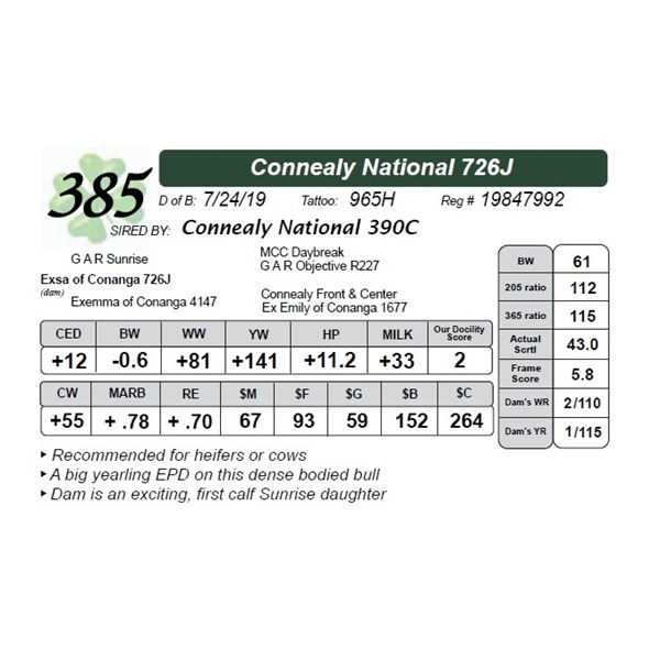 Connealy National 726J